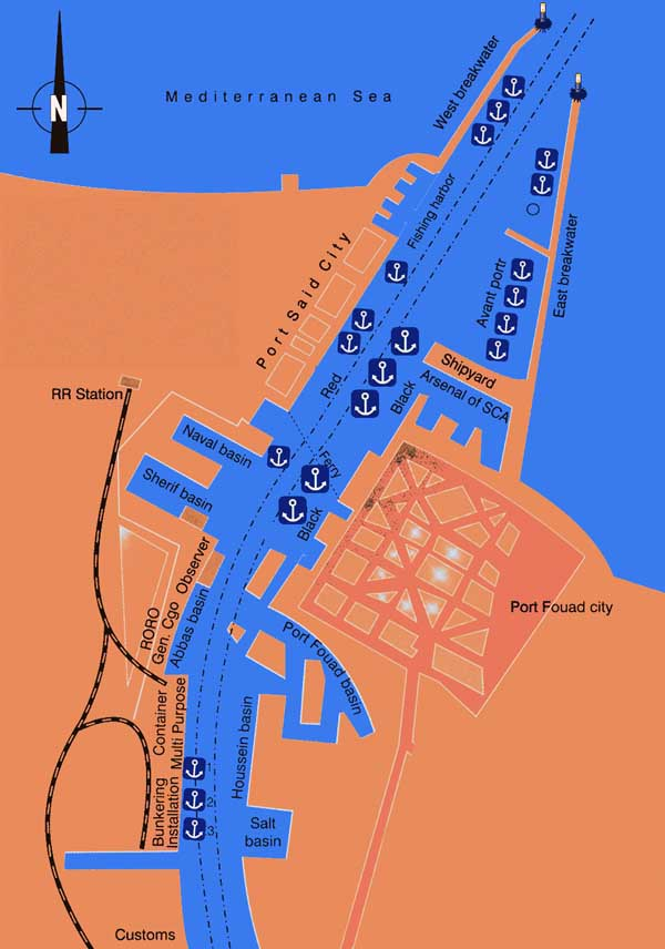 Map of Port Said